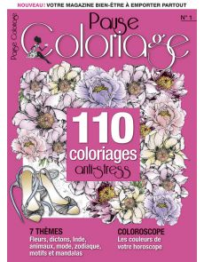 Pause Coloriage n°1 - 110 coloriages anti-stress