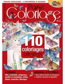 Pause Coloriage n°3 - 110 coloriages anti-stress