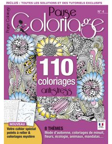 Pause Coloriage n°4 - 110 coloriages anti-stress