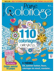 Pause Coloriage n°7 - Cahier spécial 16 pages Coloriage Fun