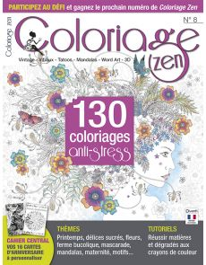 Coloriage Zen n°8 - 130 coloriages anti-stress