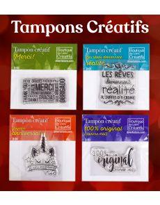 Collection de 4 tampons pour le scrapbooking et les cartes créatives