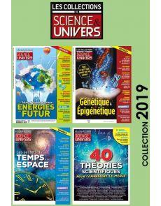 Collection 2019 complète - COLLECTIONS DE SCIENCE ET UNIVERS : 4 numéros collectors