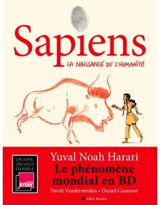 BD Sapiens Tome 1 - La naissance de l'humanité Yuval Noah Harari, David Vandermeulen, Daniel Casanave, Claire Champion (Coloriste)