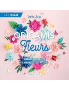 Fleurs origamis - 400 pages prêtes à plier, 10 modèles faciles à réaliser - Gaël Le Neillon