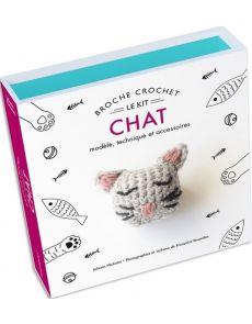 Kit Broche crochet Chat - Modèle, technique et accessoires - Juliette Michelet