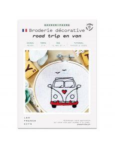 Kit Broderie Road trip en van - French Kits