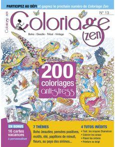 Coloriage Zen n°13 - 200 coloriages spécial été + votre supplément DIY en 3D