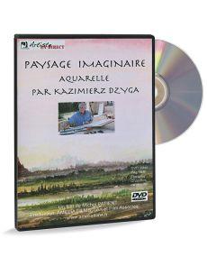 Paysage imaginaire - Aquarelle par Kazimierz Dzyga