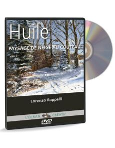 Lorenzo Rappelli - Huile, Paysage de neige au couteau (DVD)