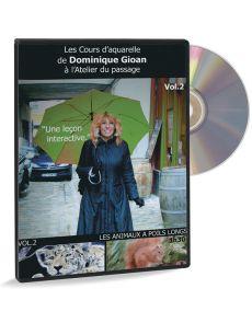 Peindre les animaux à poils longs - Les cours d'aquarelle par Dominique Gioan (DVD)