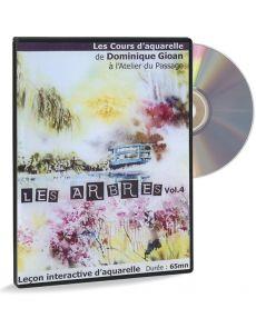 Peindre les arbres à l'aquarelle - Cours d'aquarelle par Dominique Gioan (DVD)