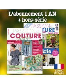 Abonnement 1 AN + Hors-série Passion Couture Créative