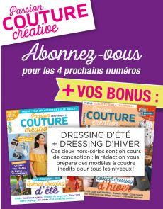 Abonnement Passion Couture + les 2 prochains hors-séries