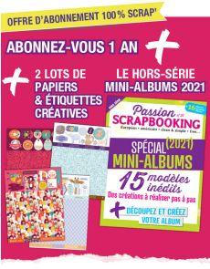 Abonnement Scrapbooking + le spécial MINI-ALBUMS + les papiers créatifs
