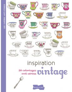 50 coloriages anti-stress - Inspiration vintage