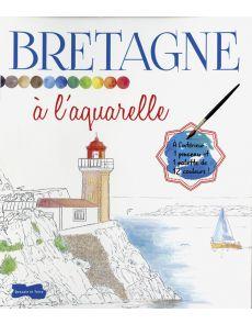 Bretagne à l'aquarelle - Croquis à peindre, une palette de couleurs et 1 pinceau