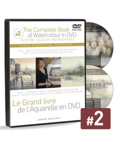 Janine Gallizia - Box-set with 2 DVDs Watercolour Guidelines and solutions