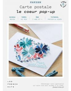 Les French Kits - Cartes Postales - Le cœur pop-up
