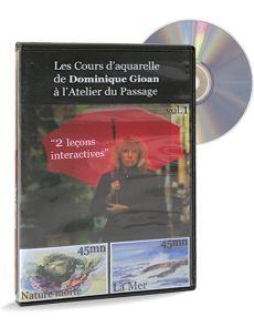 Les cours d'aquarelle de Dominique Gioan - Nature morte et mer - DVD