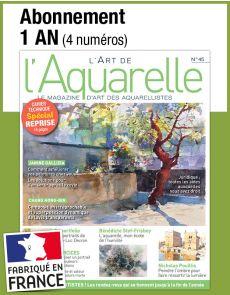 L'abonnement aux 4 prochains numéros du magazine L' ART DE L'AQUARELLE