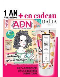 Abonnement 1 AN à ADN L'Atelier des Nanas + EN CADEAU 1 crème BAÏJA