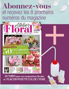 Abonnement Atelier Floral + 30 tubes pour vos compositions + 1 flacon pissette col de cygne
