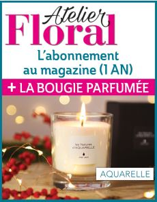 Abonnement Atelier Floral + la BOUGIE PARFUMÉE éco-responsable