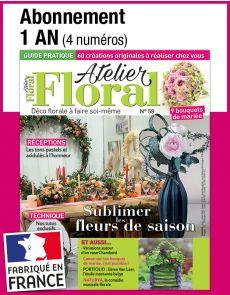 L'abonnement aux 4 prochains numéros du magazine ATELIER FLORAL