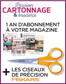 Abonnement 1 AN Cartonnage et Broderie + les ciseaux Fiskars