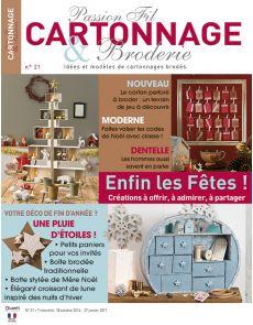 Passion Fil Cartonnage et Broderie n°21 - Des créations en cartonnage brodé à offrir