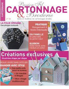Passion Fil - Cartonnage et Broderie n°23 - Idées et modèles de cartonnages brodés