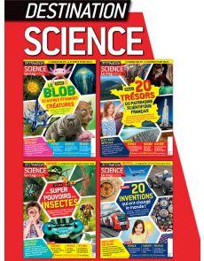 Collection 2019 complète DESTINATION SCIENCE : 4 numéros collectors