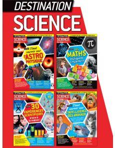 Collection 2020 complète DESTINATION SCIENCE : 4 numéros collectors