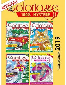 Collection 2019 COLORIAGE MYSTERE - 4 magazines