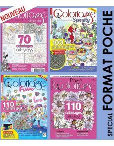 Collection coloriage 4 numéros multi-titres spécial petit format !