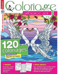 Coloriage Ambiance Zen 10 - Boho, doodle, line art, minuit, zentangle, vitrail…