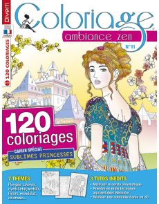 Coloriage Ambiance Zen 11 - Thèmes fleurs, princesses, mandalas, colorama…