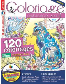 Coloriage ambiance Zen 2 - Cahier spécial Adorables chats