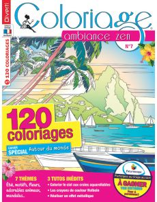 Coloriage Ambiance Zen n.7 - Cahier spécial Tour du Monde