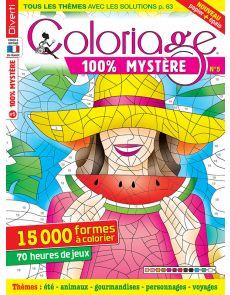 Coloriage 100% mystère n°5 - Thèmes été, animaux, gourmandises, personnages, voyages