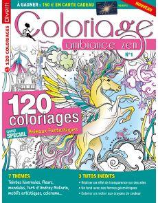 Coloriage ambiance Zen n°1 - Cahier spécial Animaux fantastiques