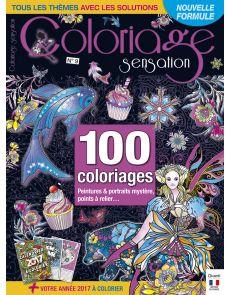 Coloriage Sensation n°9 - 100 coloriages mystères, points à relier, thèmes variés