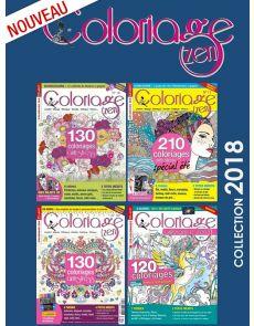 Collection complète 2018 COLORIAGE ZEN - 4 magazines
