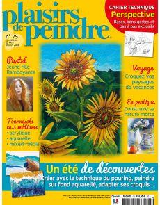 Plaisirs de Peindre 75 - Un été de découvertes : technique du pouring, peindre sur fond aquarelle, adapter ses croquis...