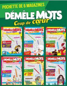 Collection 2019 DEMELE MOTS COUP DE COEUR - 6 magazines