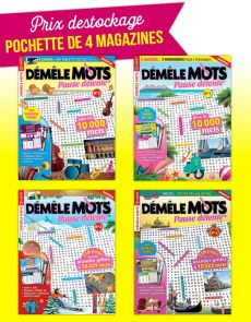 Collection 2018 DEMELE MOTS PAUSE DETENTE - 4 magazines