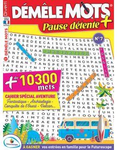 Démêle Mots Pause Détente + 7 et son cahier spécial Aventure