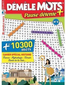 Démêle Mots Pause Détente + 8 et son cahier spécial Histoire