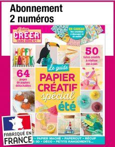 L'abonnement aux 2 prochains numéros du magazine J'AIME CRÉER